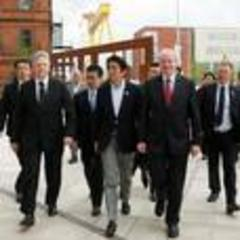 Shinzo Abe asks Stormont to 'continuously support' Japanese companies in Northern Ireland