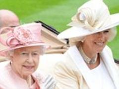 Queen waves happily at Royal Ascot alongside Duke and Duchess of Cornwall, despite Prince Philip's absence