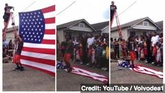Lil Wayne Walks on American Flag in New Music Video